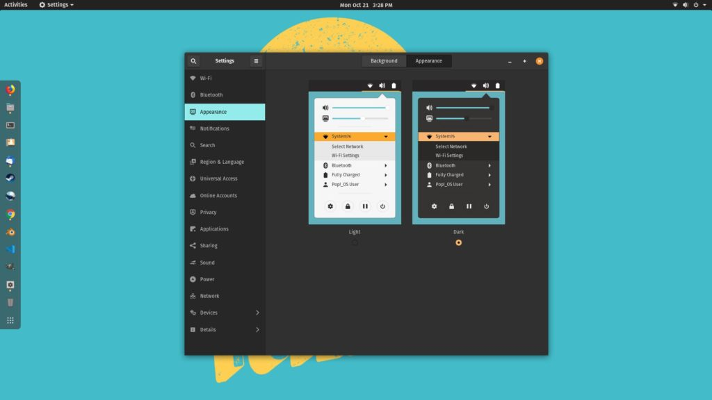 Pop!_OS Dark Mode Expanded