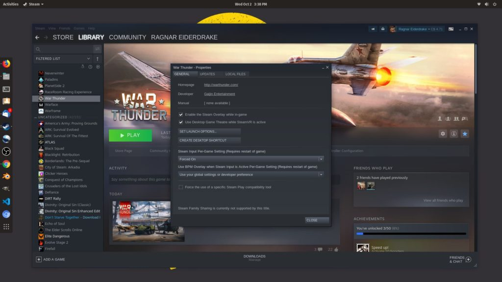 Steam Input Per-Game Setting