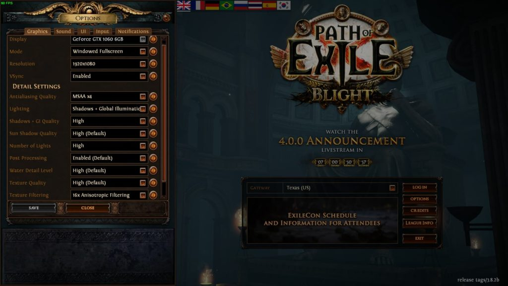 Path of Exile Settings