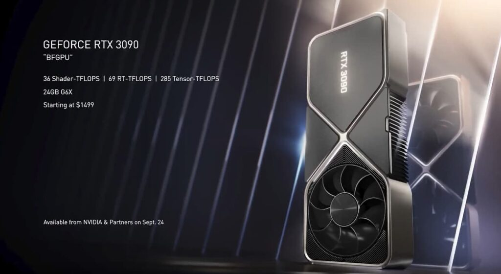 GeForce RTX 3090 pricing and specs